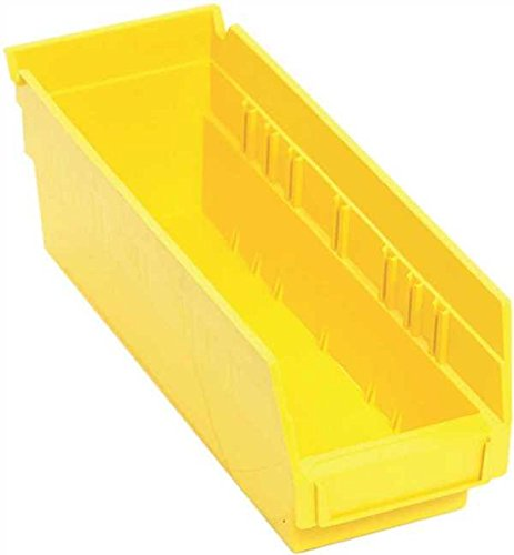 Quantum Storage Systems Economy Shelf Bin, 11-5/8 In. X 4-1/8 In. X 4 In., Yellow