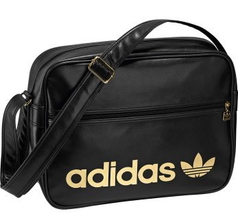 Adidas Adic Classic Airline Messenger Shoulder Bag - Black  Gold ...