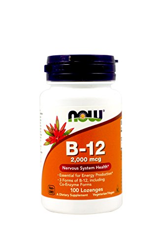 Now Foods B-12 2000mcg, 100-Count (Pack of 2)