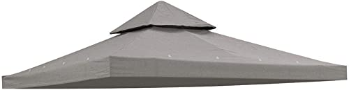 KOVAL INC. 10×10 ft Waterproof Gazebo Canopy Top Replacement Gray