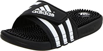 adidas Women's Adissage W Slide Sandal (Black/Black/White)