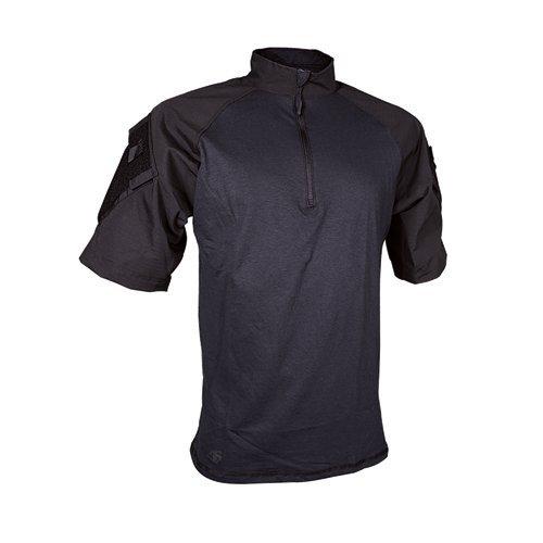 Tru-Spec Men's Tactical Response Short Sleeve Combat Shirt, Black, Large/Regular