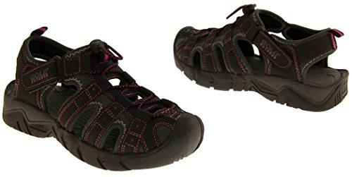 Footwear Studio - Sandalias deportivas para mujer Negro Gris