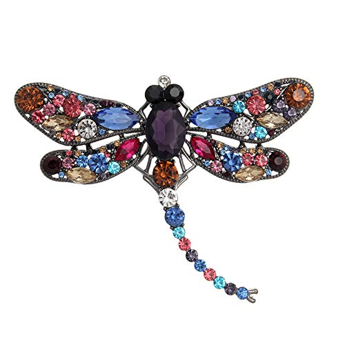 (Crystal Rhinestone Dragonfly Brooch Pin Jewelry Birthday Gifts (Color) )