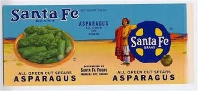 Asparagus Label - Santa Fe Brand Asparagus Label Mint Chico