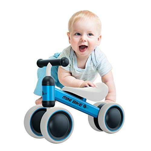 YGJT Baby Balance Bikes Bicycle Baby Walker Toys Rides for 1 Year Boys Girls 10 Months-24 Months Baby's First Bike First Birthday Gift Blue ()