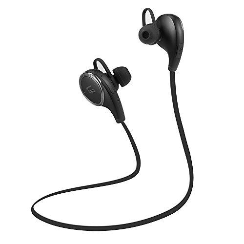 TaoTronics Bluetooth Kopfhörer 4.0 Wireless Sport Stereo Headset mit AptX Technologie und Mikrofon für Freisprechfunktion In-Ear-Kopfhörer für Handy iPhone iPad Laptop Tablet Smartphone Schwarz