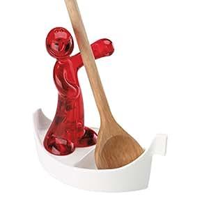 Koziol LUIGI - Soporte para cuchara de cocinar, color rojo