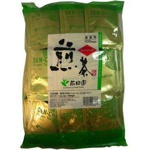 Sencha Green - Authentic Maeda-en Japanese Sencha Green Tea - 100 Foil-Wrapped Tea Bags