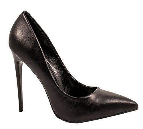 Elara Damen Pumps | Trendige Spitze Stilettos | High Heels| chunkyrayan Schwarz Jeez