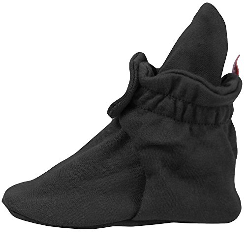Zutano Cotton Booties Unisex For Baby Boys or Baby Girls - Black - 12 Months by Zutano (Image #3)