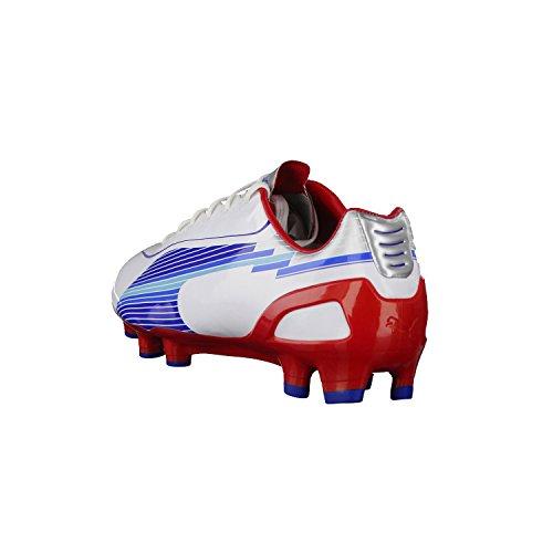 Puma EvoSpeed 1 FG 102527 - Zapatillas de fútbol para hombre weiß / rot / blau (weiß / rot / blau)