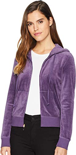 Juicy Couture Logo Velour - Juicy Couture Women's Robertson Velour Jacket Extracurricular Large