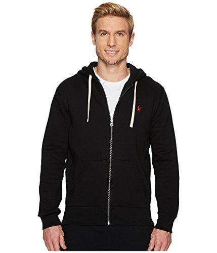 Ralph Lauren Polo Classic Full-Zip Fleece Hooded Sweatshirt (XX-Large, Black/Red/Red Pony)