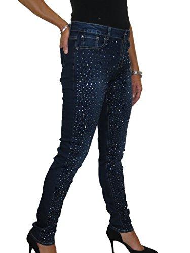 Gamba 52 Blu Jeans Denim Con E Ice 42 Indaco Gemma Stretti t68qwSwzT