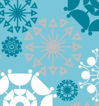 Aqua Snowflake - Shimmer Snowflakes Aqua Wrapping Paper Wrap Roll 24 Inch X 16 Feet