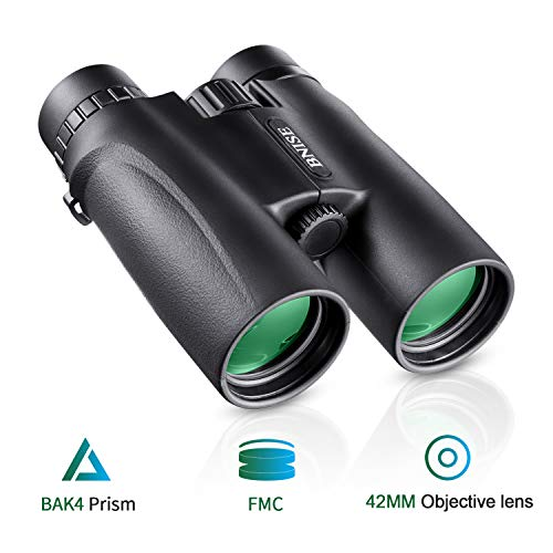 BNISE Binoculars for Adults, 10×42 HD Asika Military Telescope for Hunting and Travel – Compact Folding Size – High…