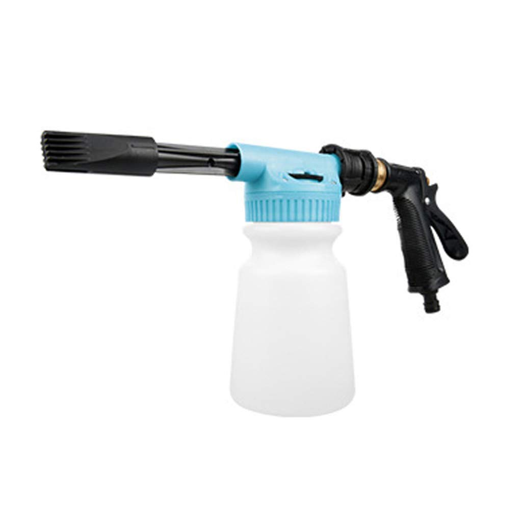 High Pressure Car Cleaning Gun Foam Cleaning Sprayer Car Washer 2 in 1 Foam Blaster Air Pulse Equipment with 1000ml Bottle Foaming Stick Mixing Head and Hand Grip by Armfer-household supply