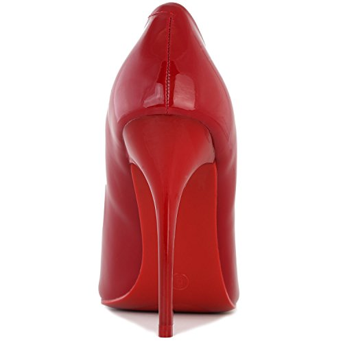 DailyShoes Womens Classic Fashion Stiletto Pointed Toe Paris-01 High Heel Dress Pump Shoes Red Pt IxpoAejE16