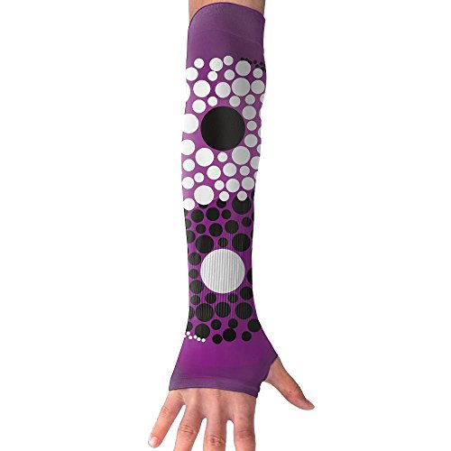 HBSUN FL Unisex Abstract Symbol Yin-yang Anti-UV Cuff Sunscreen Glove Outdoor Sport Riding Bicycles Half Refers Arm Sleeves by HBSUN FL