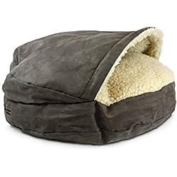 Snoozer Luxury Cozy Cave, Small, Dark Chocolate