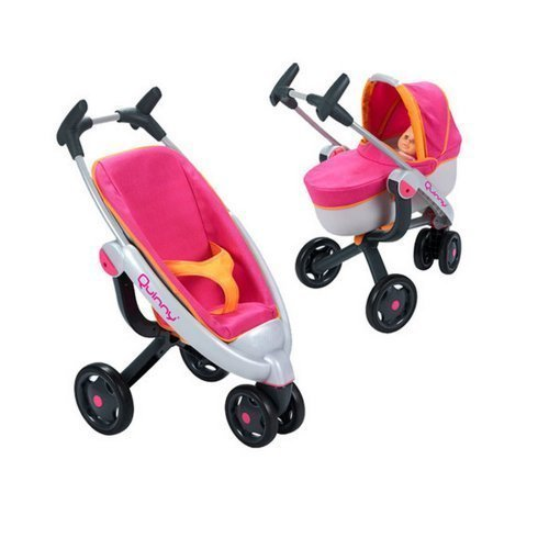 Quinny 3 In 1 Toy Dolls Pushchair Pram By Smoby Amazon Co Uk Toys
