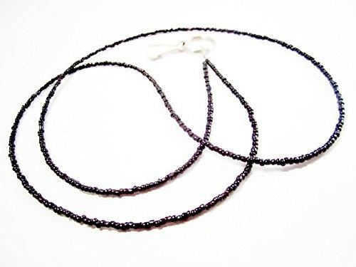 ATLanyards Plain Black Seed Bead Lanyard