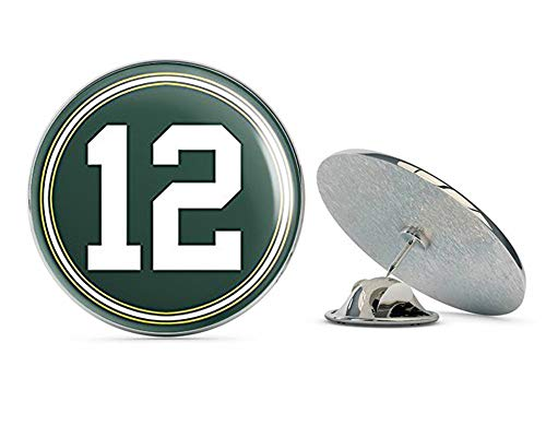 NYC Jewelers Round #12 Aaron Rodgers Packers Colors (Green Bay Number 12) Metal 0.75
