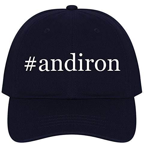 The Town Butler #Andiron - A Nice Comfortable Adjustable Hashtag Dad Hat Cap, Navy, One Size