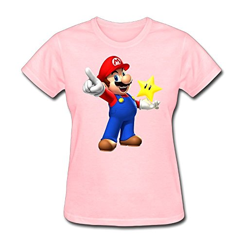 Price comparison product image ZHUYOUDAO Super Mario Star Shirts For Woman Pink XXL