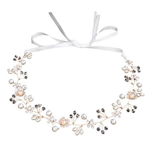 (BB67 Bridal Jewelry Beautiful Flowers Handmade Beaded Hair Band Wedding Headdress)