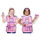 Melissa & Doug Hair Stylist Role Play Costume Dress-Up Set (Pretend Play, Frustration-Free Packaging, 7 Pieces)