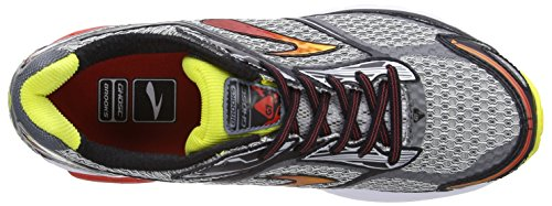 Brooks Ghost 7 - Zapatillas de running para hombre Plateado (Silver/Black/Mars Red)