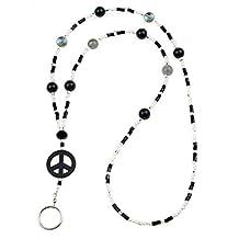Peace - Black ID Lanyard