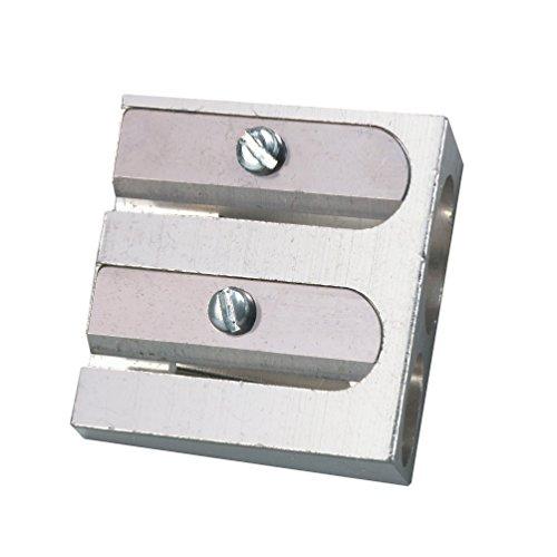 Metall Doppel-Anspitzer / Bleistiftspitzer für 2 Stiftdurchmesser