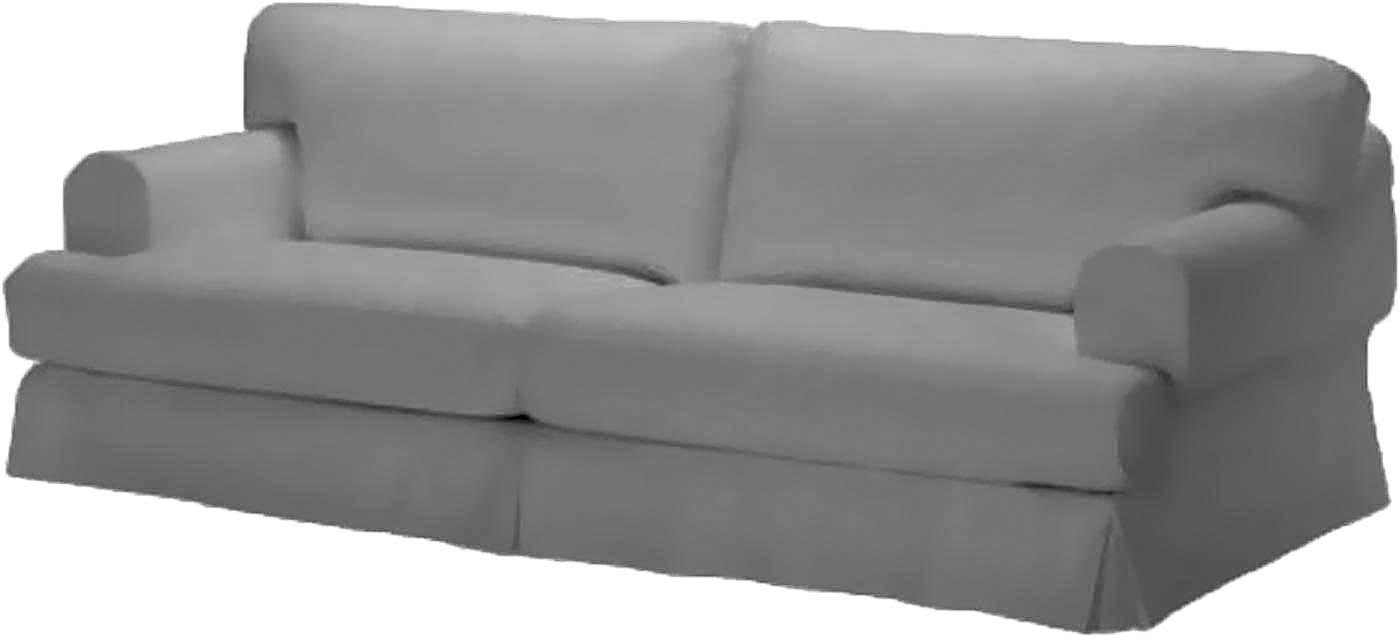 Durabale Dense Cotton Three Seat Hovas Sofa Cover Replacement Is Custom Made for Ikea Hovas 3 Seater Slipcover Only (Cotton Gray)