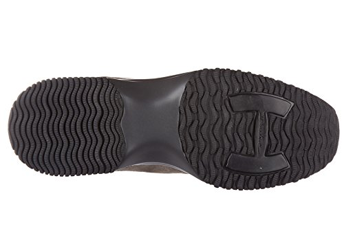 Hogan chaussures baskets sneakers femme en daim interactive allacciata beige
