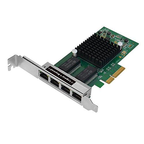 - SIIG Legacy and Beyond Series 4 Port (Quad) Gigabit Ethernet PCI Express 2.1 PCI-E Network Adapter Card (NIC) 10/100/1000 Mbps 4-Lane Card with Intel I350-T4 Chipset 4xRJ45- Up to 2GB/s PCIe Bandwidth