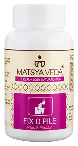 Matsya Veda FixoPile Herbal Natural Capsule for Piles - 60 Capsules (Best Ayurvedic Medicine For Fistula)