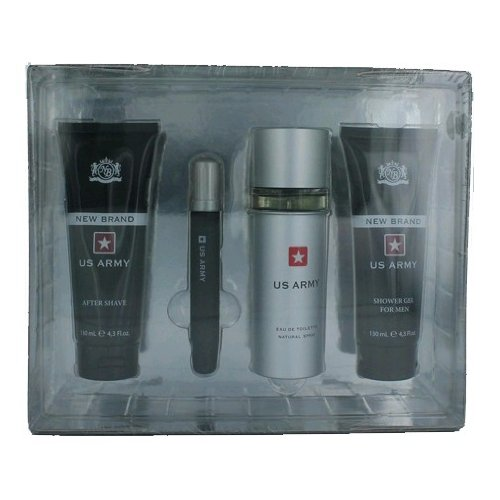 New Brand Perfumes Us Army 4 Piece Gift Set for Men 1044109