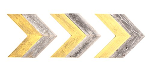 BarnwoodUSA Rustic Chevron Decorative Arrow Set of 3-100% Re