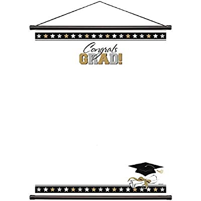 Amscan 279050 Graduation Party Sign-In Scroll Sheet, 23