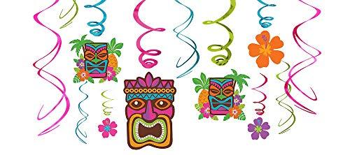 Amscan Tiki Party Foil Swirl Decorating Kit -
