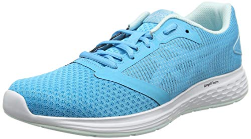 Femme Asics White 400 10 de Bleu Aquarium Running Patriot Chaussures 11wrX