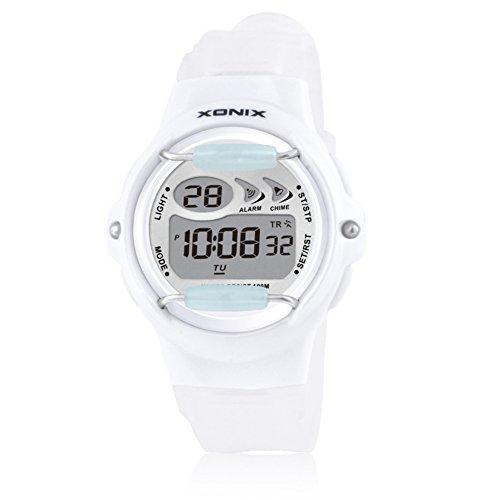 Children's multi-function jelly digital electronic watch, Led 100 m waterproof resin strap calendar alarm stopwatch girls or boys fashion wristwatch-D by CDKIHDHFSHSDH
