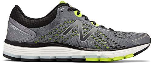 New Balance Men's 1260v7 Running Shoe, Gunmetal with Black, 8 D US