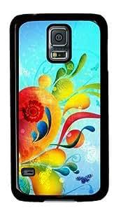 Abstract Shapes Colorful Painting Samsung Galaxy S5 Black Sides Hard Shell Case-comfort Samsung Galaxy wangjiang maoyi