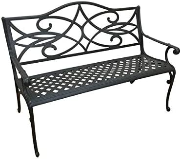 The Outdoor Patio Store Commercial-Grade Cast Aluminum Garden Bench