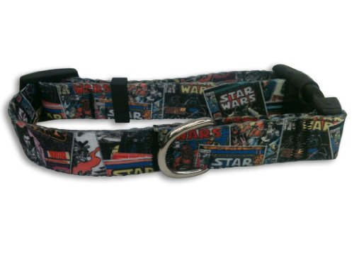 Platinum Pets Star Wars 1-Inch Nylon Collar, Comics Design
