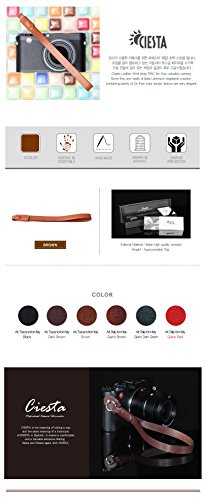 RAIL Leather Camera Wrist Strap Brown for Mirrorless Camera RF DSLR